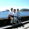 Horta, Azores - Peter, Beverly, and Amy Wong