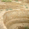 The kiva in the middle isn't round; it's gourd or kidney-shaped