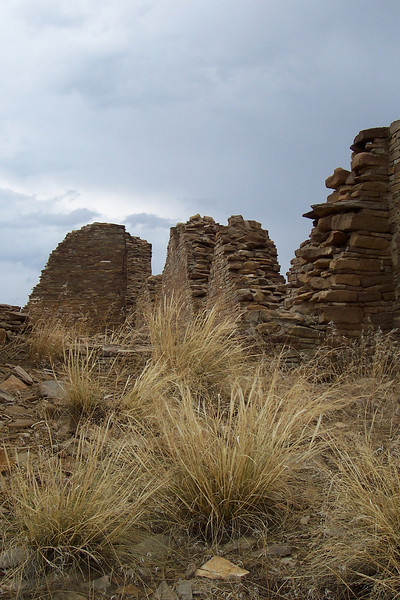 The Chacoans were part of the group called the Anasazi, which is a word the Navajo borrowed from the Ute. It means something like 'ancestors'