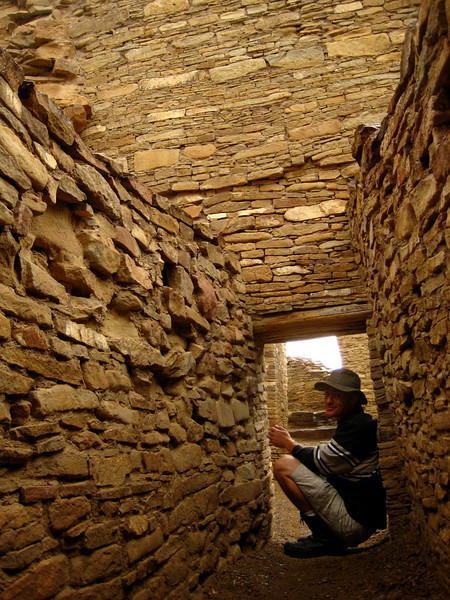 No, the Chacoans weren't hobbits. Remember, a lot of the ruins are still buried. I'm taking shelter from the rain in a normal sized doorway that's just still partially underground