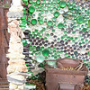 On the way down Sandia Peak, you pass Tinkertown, a museum of sorts. The outside features walls made of bottles
