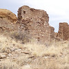 Chaco Canyon is comprised of several settlements. The place was inhabited from about 900 to 1150 AD, and there are several different masonry styles in evidence. Some of the walls had to be massively thick