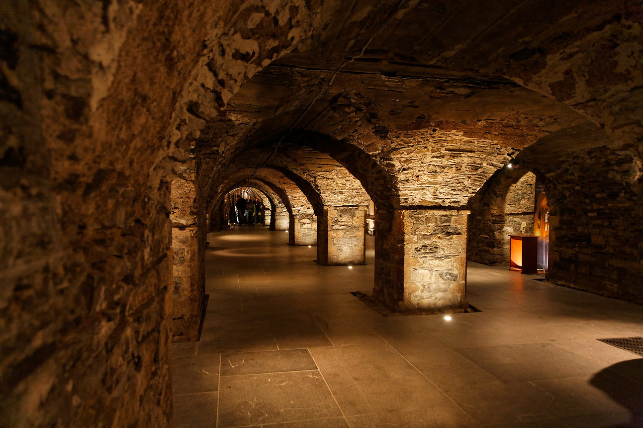 Catacombs under ChristChurch Cathedral.