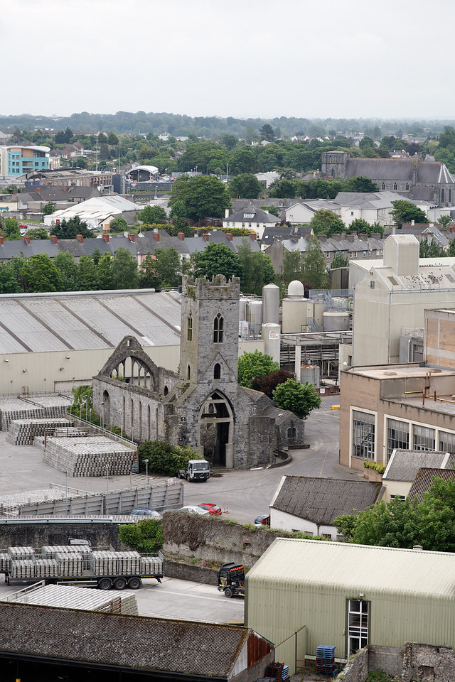 View from Round Tower into Kilkenny (ruined church)