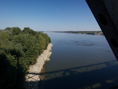 Bucharest-Ruse train journey, River Danube