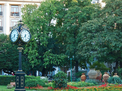 Clock in Cismigiu Gardens