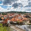 Altstadt von Böhmisch Krumau und Moldauschleife