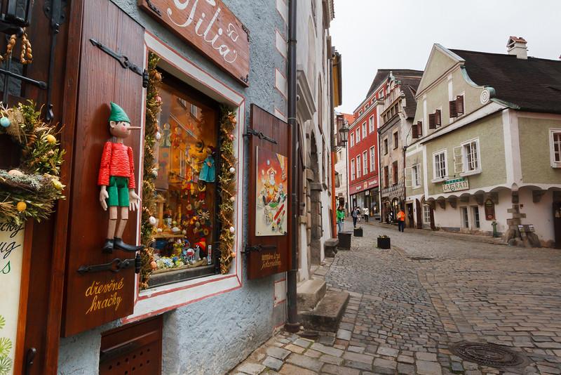 Straßenszene in Böhmisch Krumau