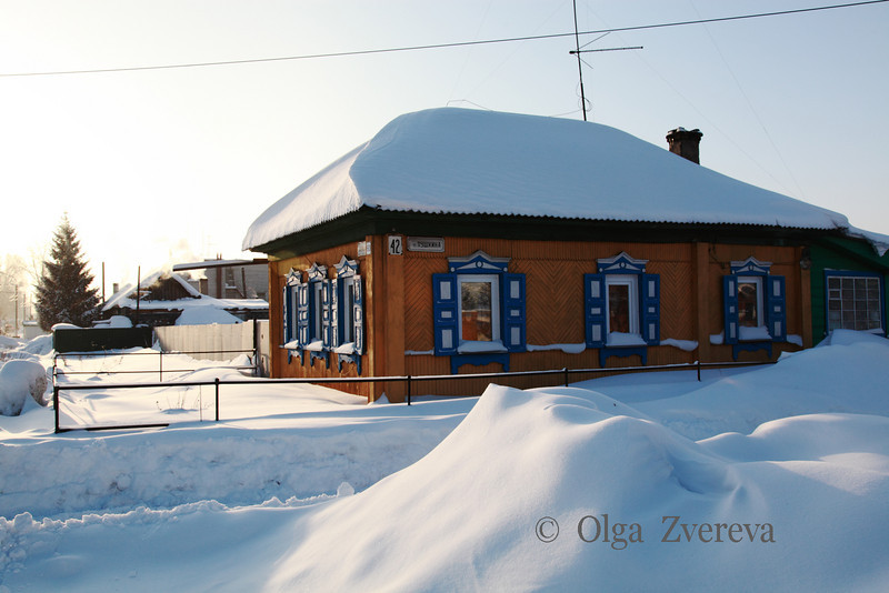<p>Traditional Siberian House. Berdsk, Russia.</p>