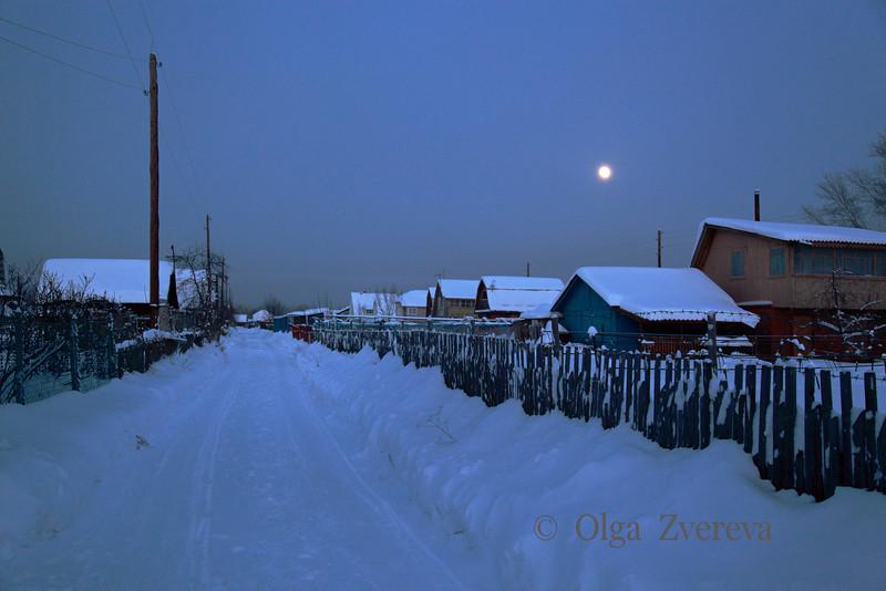 <p>Moon rise. Siberia, Berdsk, Russia</p>