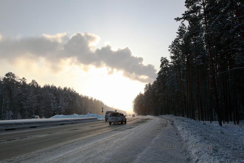 <p>Winter Road. Siberia, Berdsk, Russia</p>
