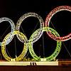 Olympic Rings at Sochi Airport