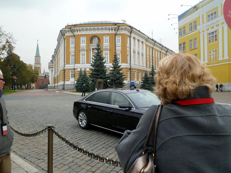 Dignitary arriving at the Kremlin