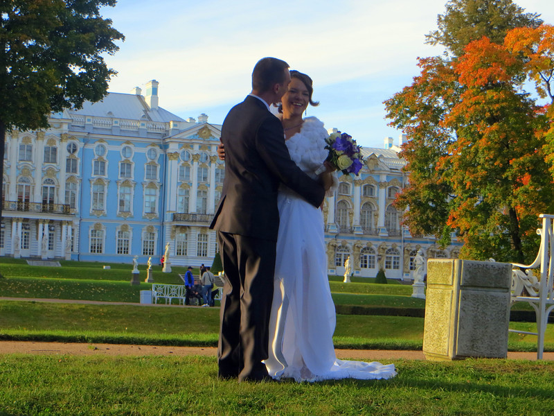 Many weddings take place at Catherine's Palace