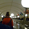 Moscow Subway. Going down 100 meters