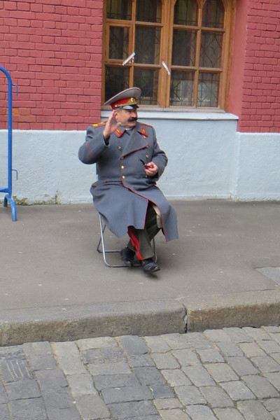 Stalin greeting visitors