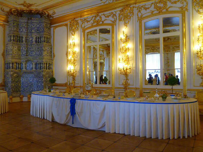 Ready for a banquet at Catherine's Palace