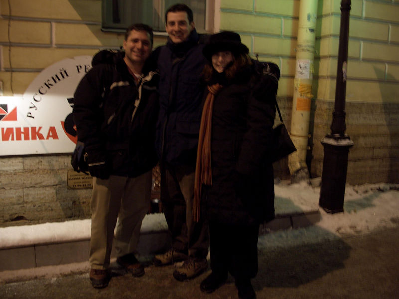 Outside Kalinka Malinka following a great Dinner with Lauren and Ken from Seattle.