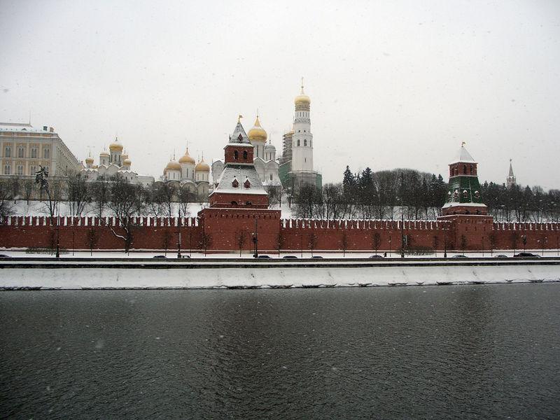 Kremlin wall along the river.