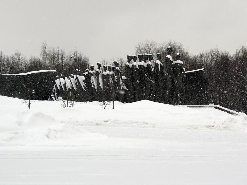 Holocaust memorial at victory park.