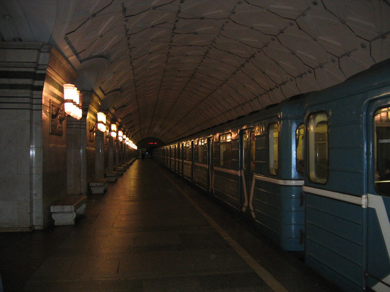 The Moscow metro was an amazing thing to behold.  Many of the stations were museum-like.