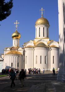 Trinity Monastery of St Sergius, Sergiev Posad - Trinity Cathedral, built in the 1420's.