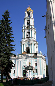 Trinity Monastery of St Sergius, Sergiev Posad - Bell Tower, built over 30 years during the 18th century, and once held 42 bells.