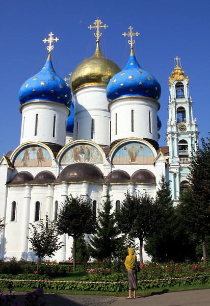 Trinity Monastery of St Sergius, Sergiev Posad - Cathedral of the Assumption and Bell Tower.