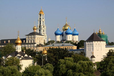Trinity Monastery of St Sergius, Sergiev Posad. The town of Sergiev Posad was known as Zagorsk during the Soviet period.