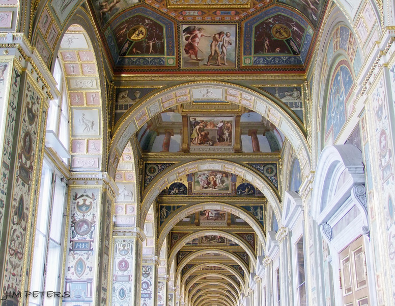 Raphael Loggias in The Hermitage somewhat repeats the Loggias of the Vatican Palace