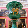 Vase made of Malachite, a semi-precious stone from the Ural Mountains