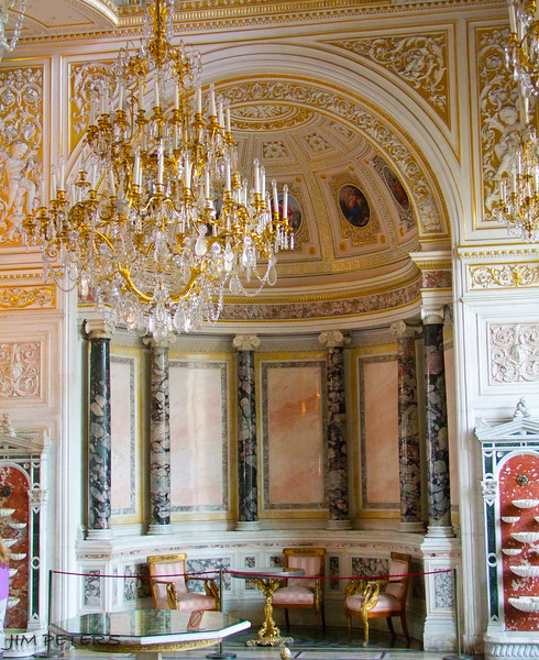 Small corner of Pavilion Hall.  Catherine the Great bought up Art from all over Europe, mid - ate 1700's.