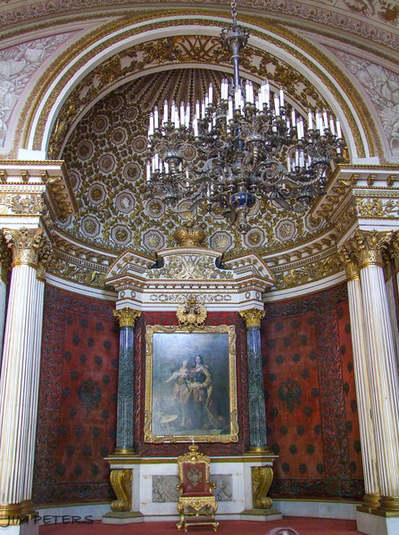 The Small Throne Room - Painting of Peter the Great and Minerva