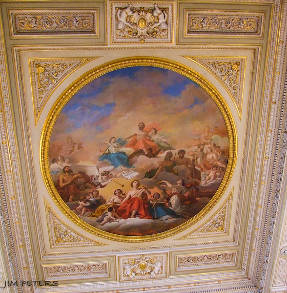 Ceiling within Leonardo da Vinci Room.  The Hermitage owns two paintings da Vinci.