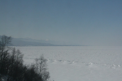 After Ulan Ude the train goes around the end of Lake Baikal