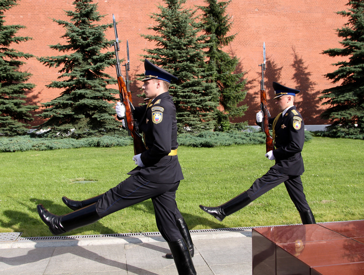 Changing the Guard at the Tomb of the Unknown Soldier.  This happens every hour.