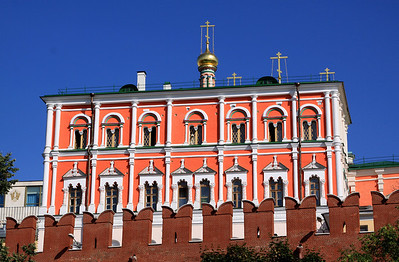 Poteshny Palace, which lies within the walls of the Kremlin.