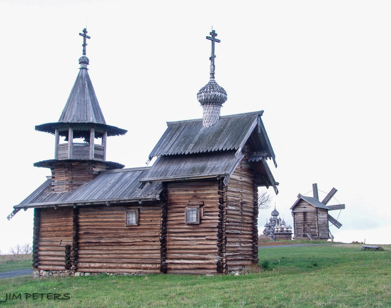 Some Structures moved to Kizhi Island from elsewhere in Russia.