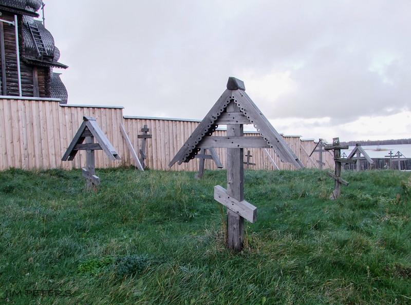Russian Orthodox Cemetery at Kizhi Island