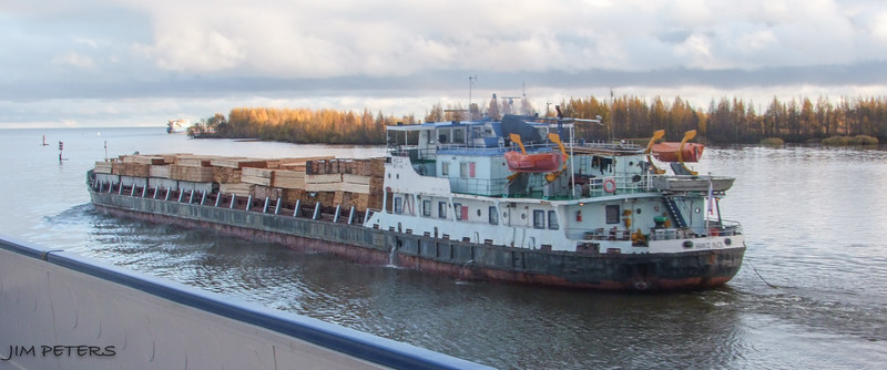 Major shipping on the Volga River