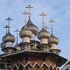 Wooden Cupolas atop Intercession Church built 1764