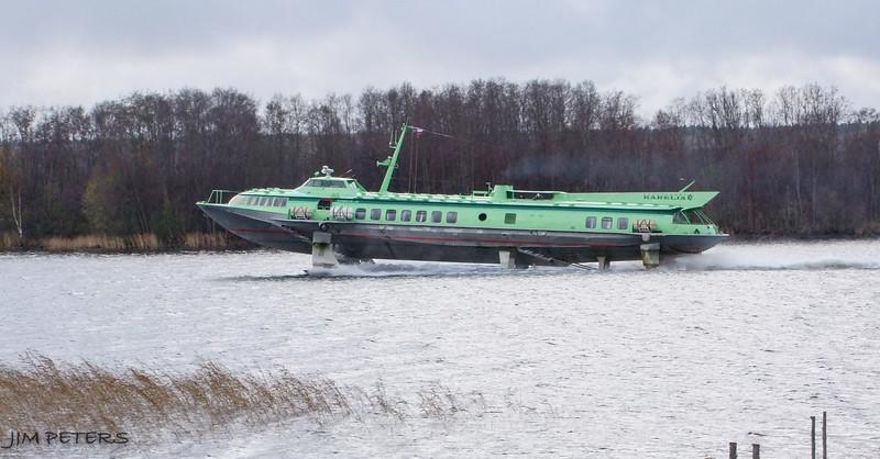Hydrofoil on river near Kizhi Island