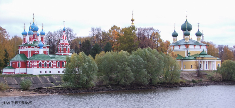 Churches at Uglich.  Czar Ivan the Terrible's Son Dmitry murdered here.