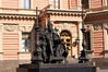Monument to Paul I in the central courtyard at Mikhailovsky Castle.  (Installed in 2003, sculptor Goreva VE, architect Nalyvayko VI).