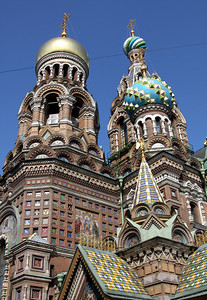 Close up view of the Church of the Saviour on Spilled Blood.