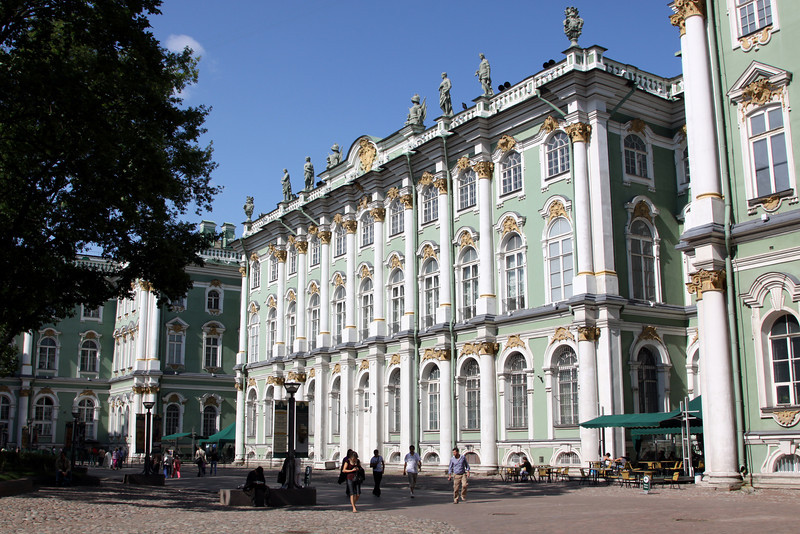 The interior courtyard of the Winter Palace.