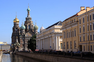 Church of the Saviour on Spilled Blood (officially known as Church of the Resurrection) on Griboedova Canal, central St Petersburg