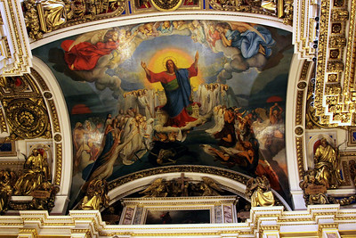 Ceiling painting inside St Isaac's Cathedral.