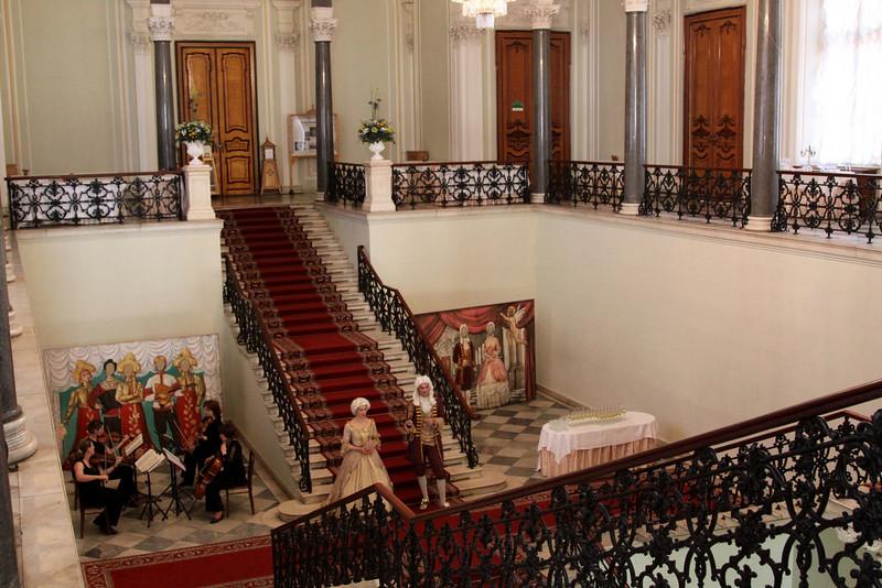 Stairway inside Nikolayevsky Palace.