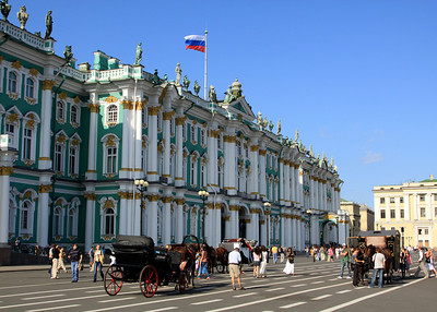 The Winter Palace on Palace Square.